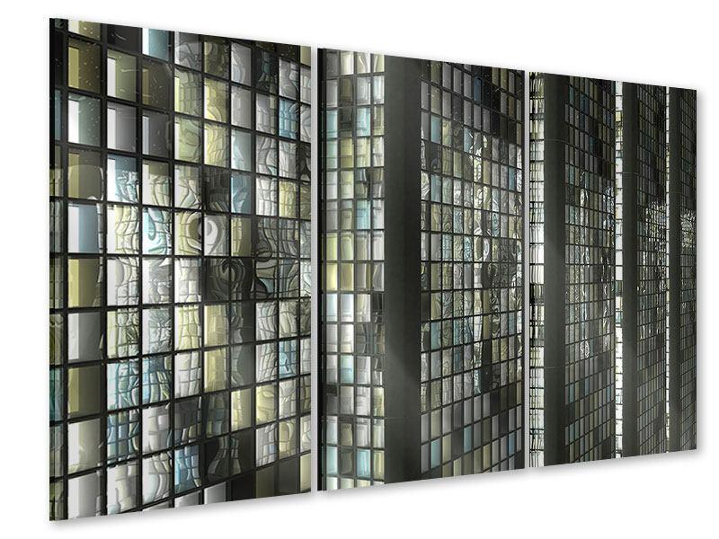 Acrylglasbild 3-teilig Windows