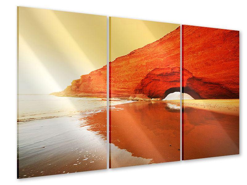 Acrylglasbild 3-teilig Wasserspiegelung