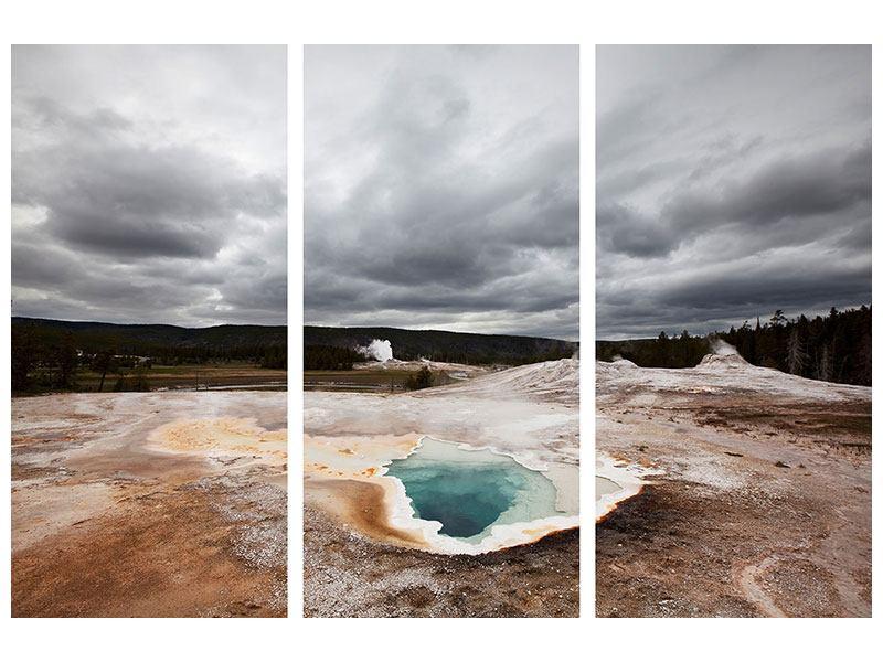 Acrylglasbild 3-teilig Vulkan