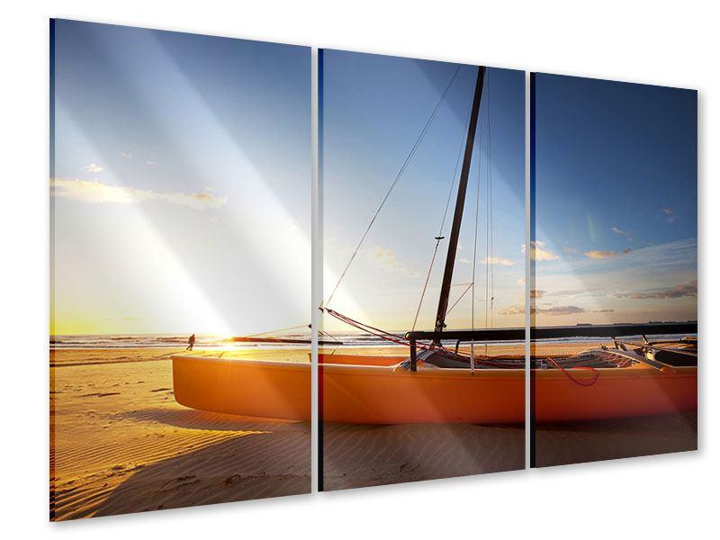 Acrylglasbild 3-teilig Katamaran