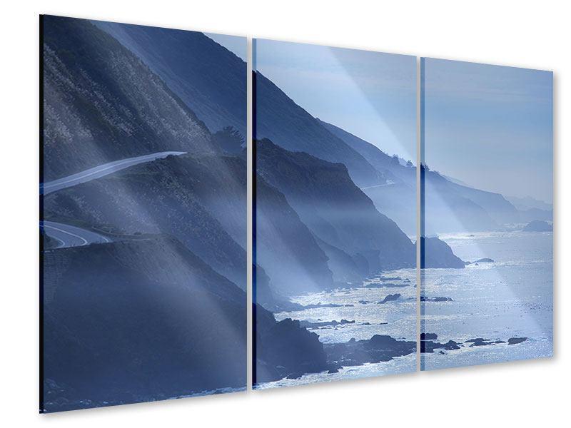 Acrylglasbild 3-teilig Bewegung im Wasser