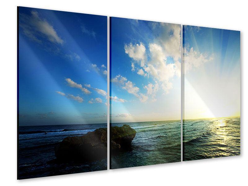 Acrylglasbild 3-teilig Die See