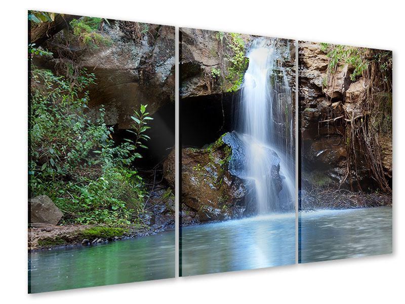 Acrylglasbild 3-teilig Die blaue Lagune