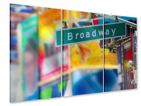 Acrylglasbild 3-teilig Broadway