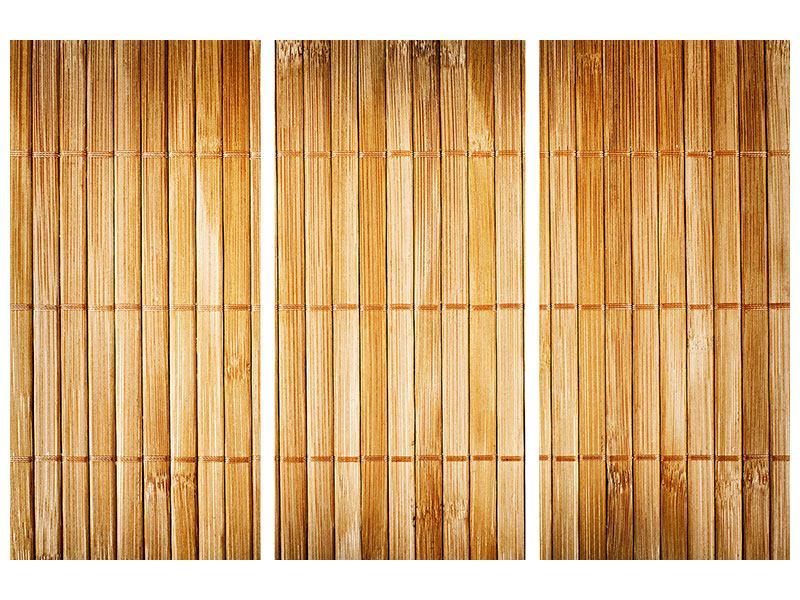 Acrylglasbild 3-teilig Bambusrohre