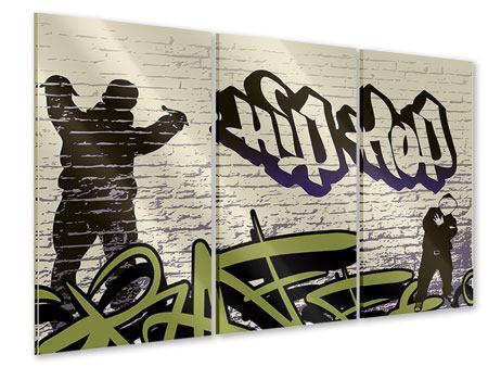 Acrylglasbild 3-teilig Graffiti Hip Hop