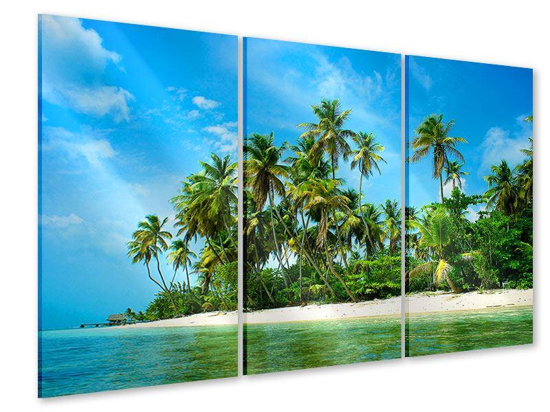 Acrylglasbild 3-teilig Reif für die Ferieninsel