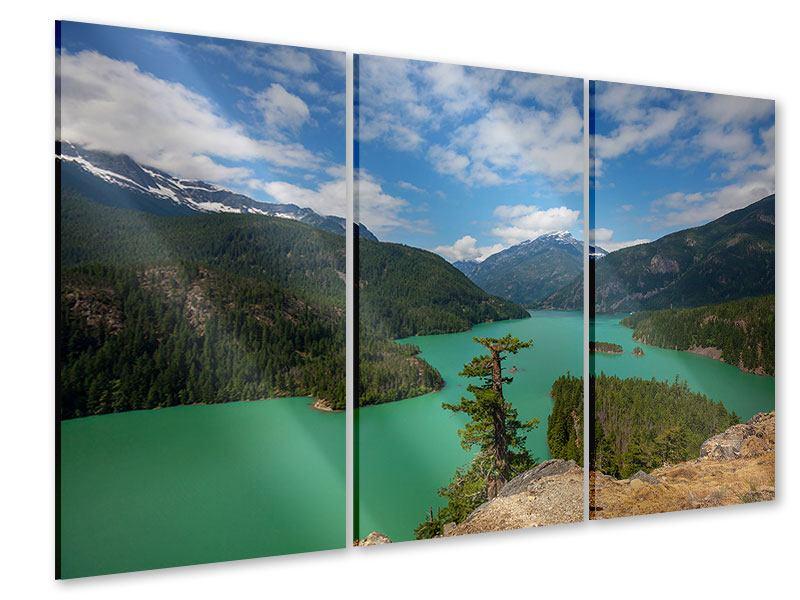 Acrylglasbild 3-teilig Diablo Bergsee