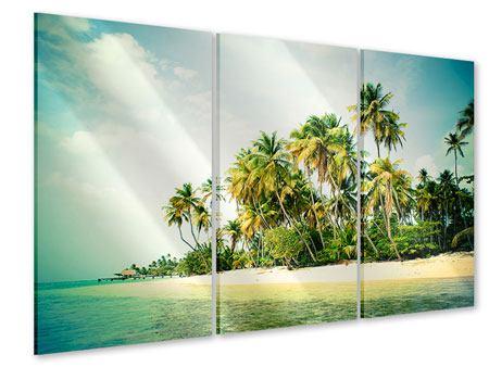 Acrylglasbild 3-teilig Tobago Cays