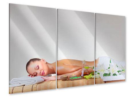 Acrylglasbild 3-teilig Spa