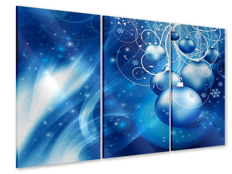 Acrylglasbild 3-teilig Shingle Bells