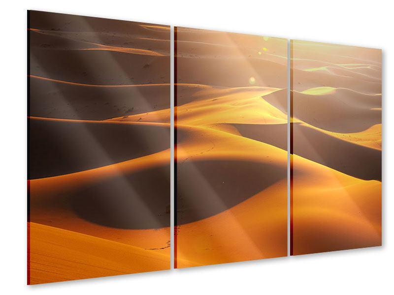 Acrylglasbild 3-teilig Wüstenwanderung
