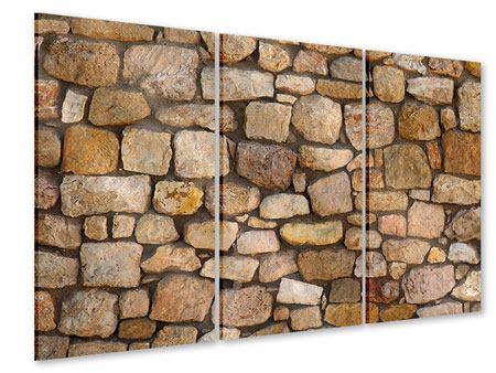 Acrylglasbild 3-teilig Alte Ziegel