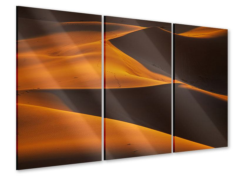 Acrylglasbild 3-teilig Wüstensand