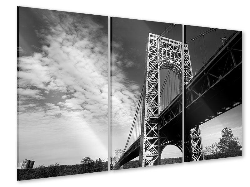 Acrylglasbild 3-teilig Georg-Washington-Bridge