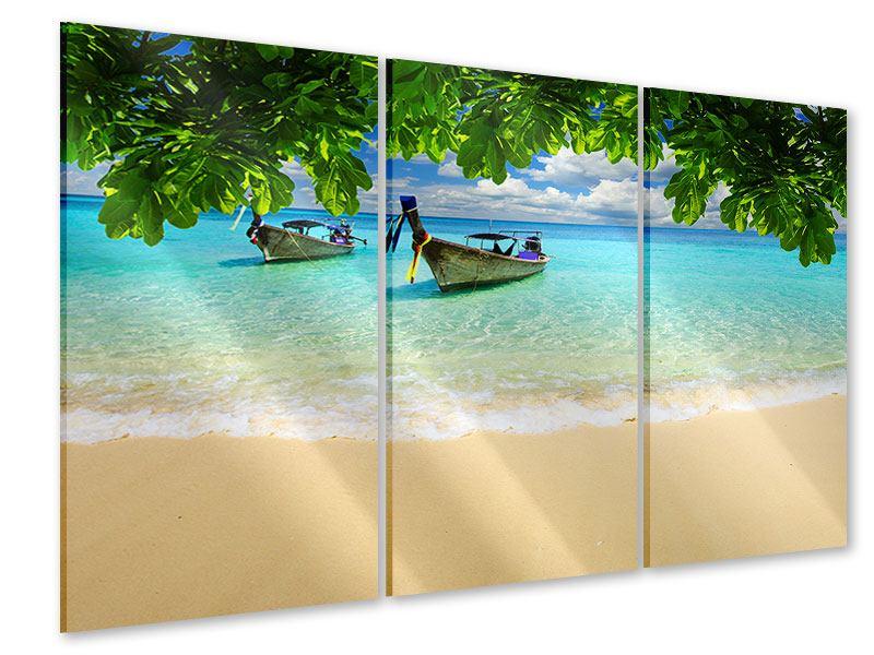 Acrylglasbild 3-teilig Ein Blick auf das Meer