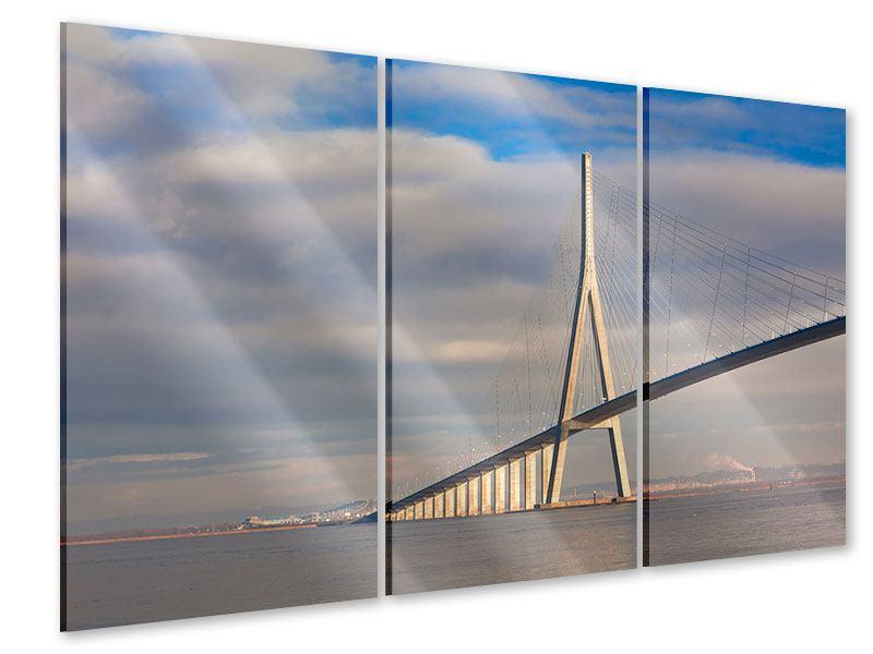 Acrylglasbild 3-teilig Pont de Normandie