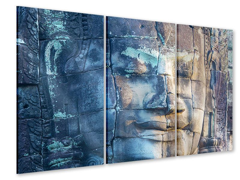 Acrylglasbild 3-teilig Buddha Statur