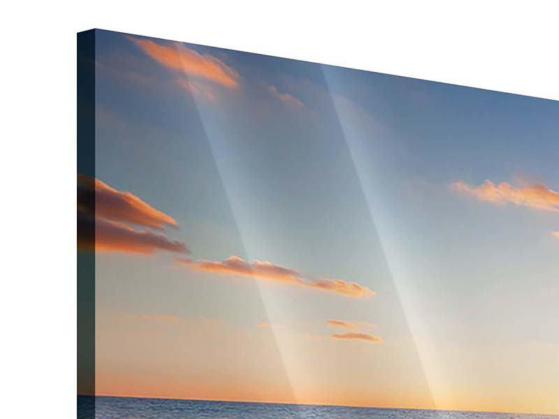 Acrylglasbild 3-teilig Sonnenuntergang am Horizont