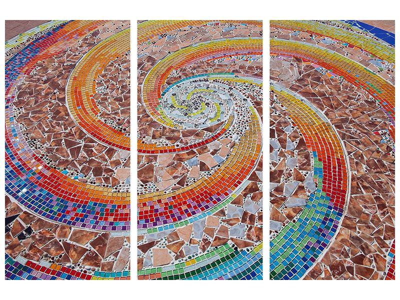 Acrylglasbild 3-teilig Mosaik