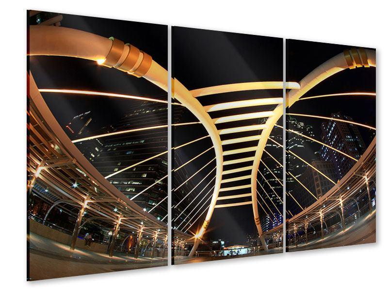 Acrylglasbild 3-teilig Avantgardistische Brücke