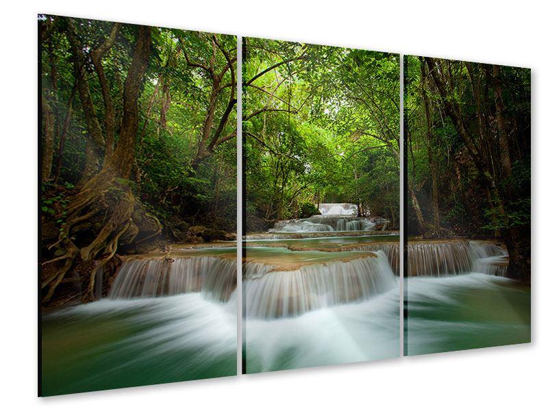 Acrylglasbild 3-teilig Die 7 Stufen