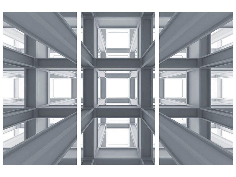 Acrylglasbild 3-teilig Räume
