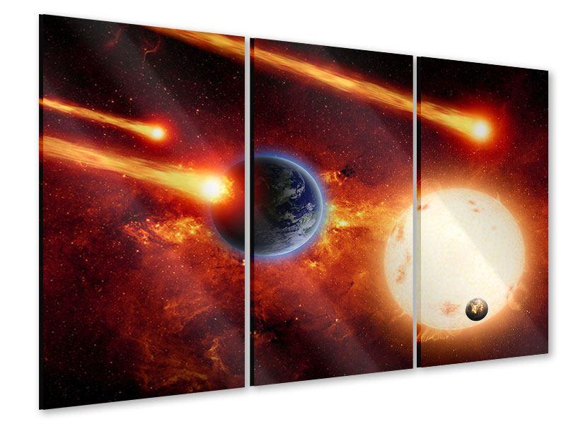 Acrylglasbild 3-teilig Der Kosmos