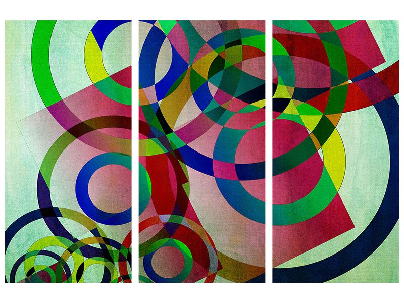 Acrylglasbild 3-teilig Wandkunst