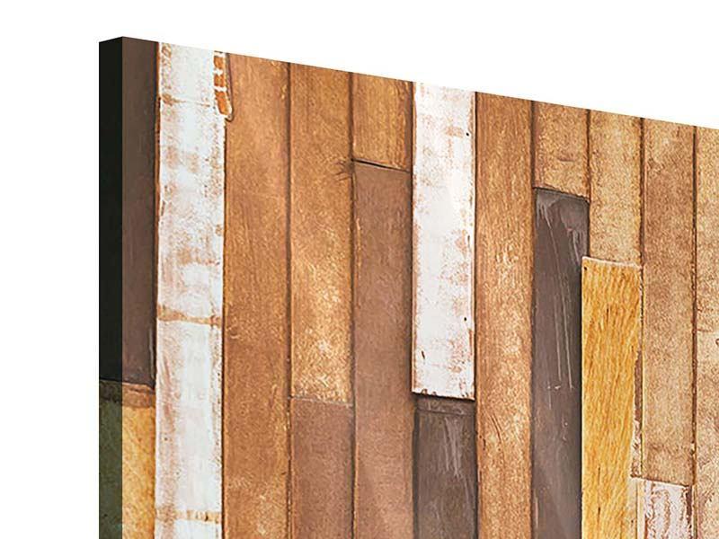 Acrylglasbild 3-teilig Designholz