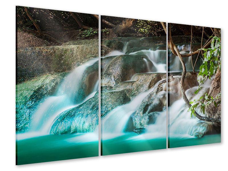 Acrylglasbild 3-teilig Am Fluss des Lebens