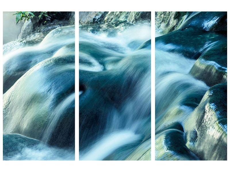 Acrylglasbild 3-teilig Das Fliessende Wasser