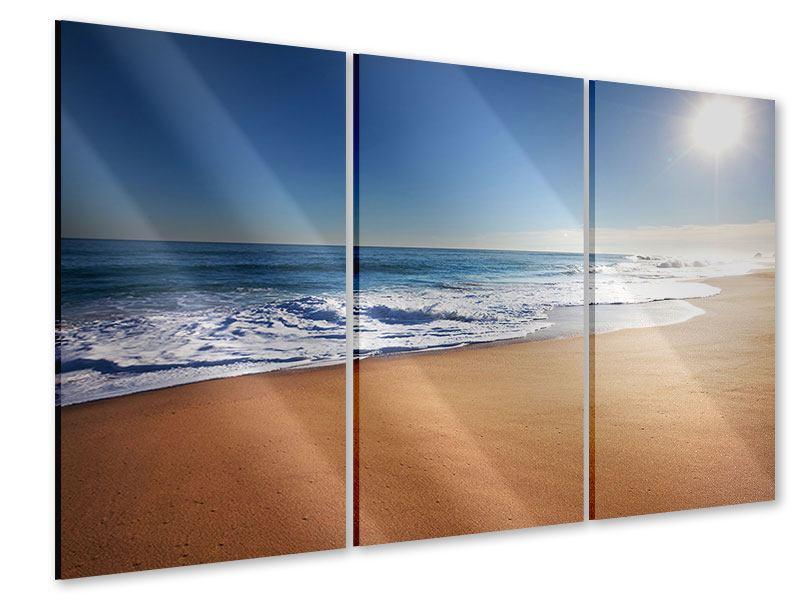 Acrylglasbild 3-teilig Privatstrand