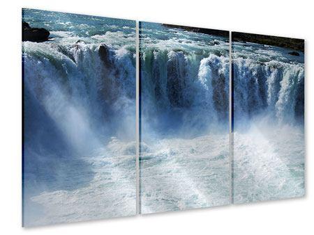 Acrylglasbild 3-teilig Mächtiger Wasserfall