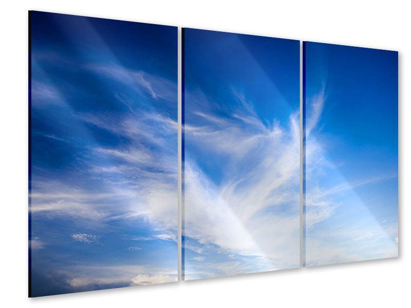 Acrylglasbild 3-teilig Schleierwolken