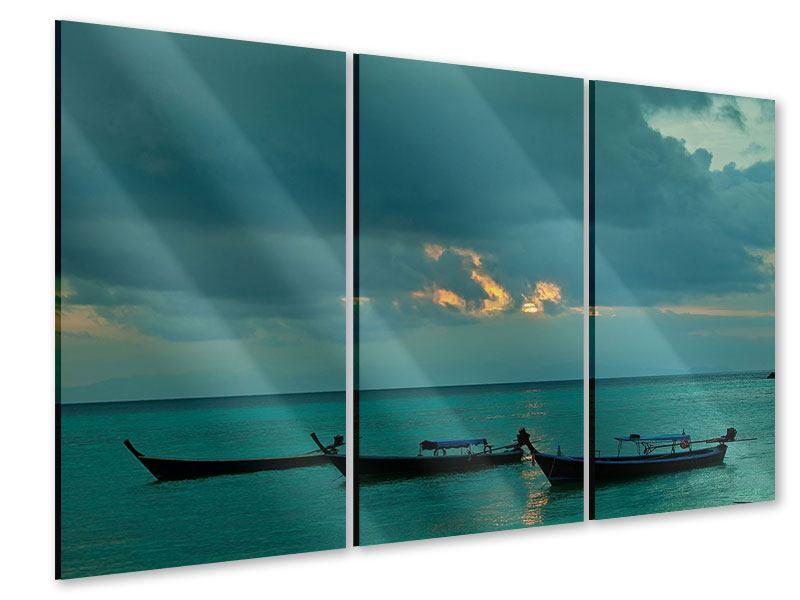Acrylglasbild 3-teilig Ozean