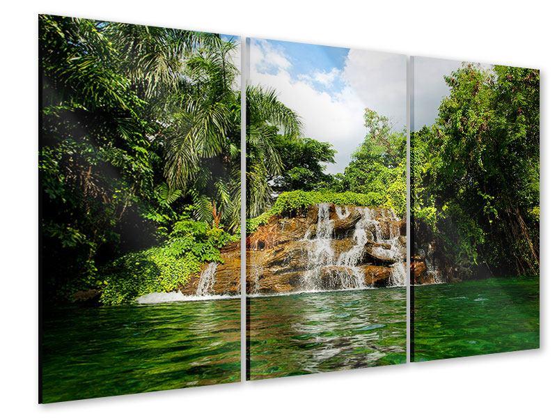 Acrylglasbild 3-teilig Lagune