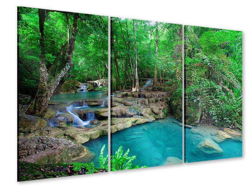 Acrylglasbild 3-teilig Am Fusse von Erawan