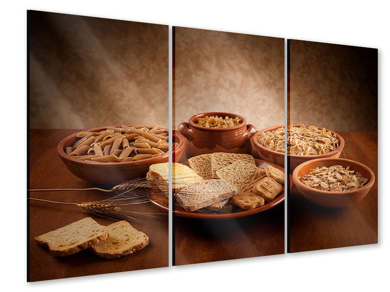 Acrylglasbild 3-teilig Das Volle Korn