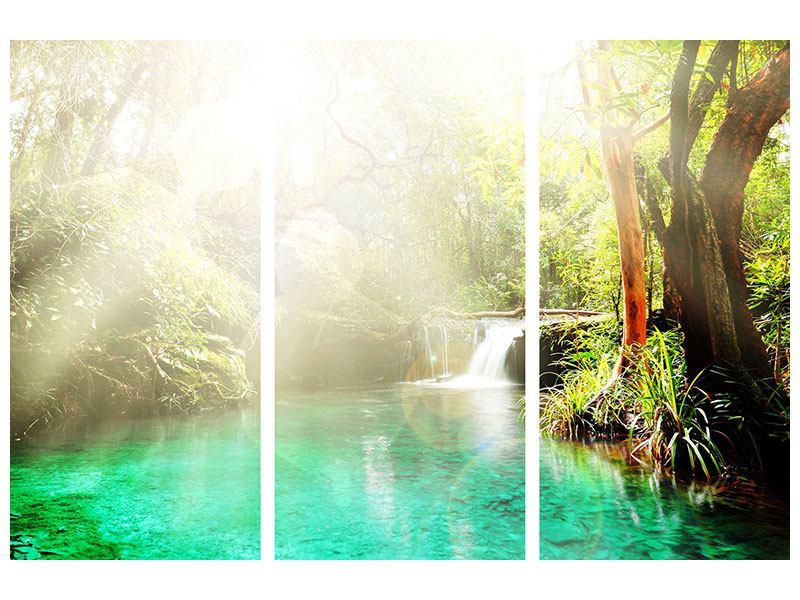 Acrylglasbild 3-teilig Die grüne Lagune