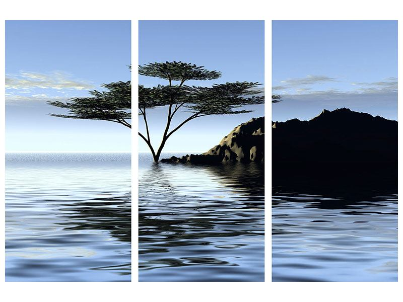 Acrylglasbild 3-teilig Naturfaszination