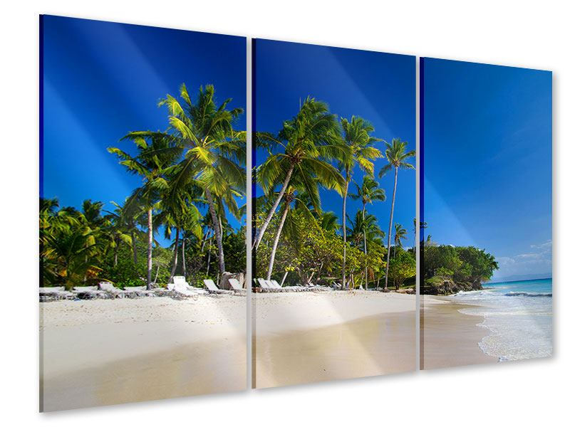Acrylglasbild 3-teilig Aloha