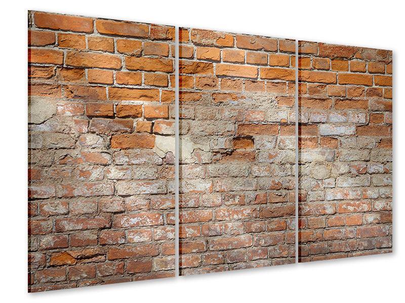 Acrylglasbild 3-teilig Alte Klagemauer