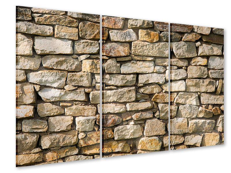 Acrylglasbild 3-teilig Natursteine