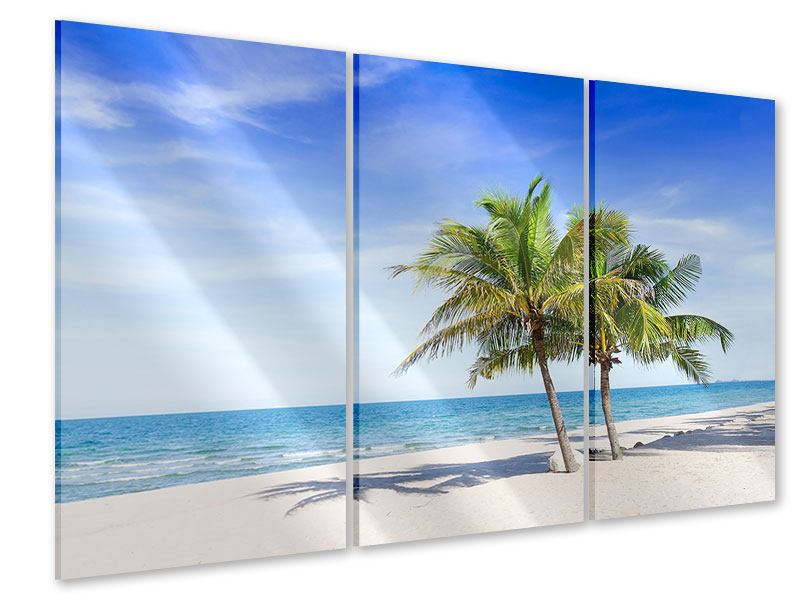 Acrylglasbild 3-teilig Thailands Traumstrand