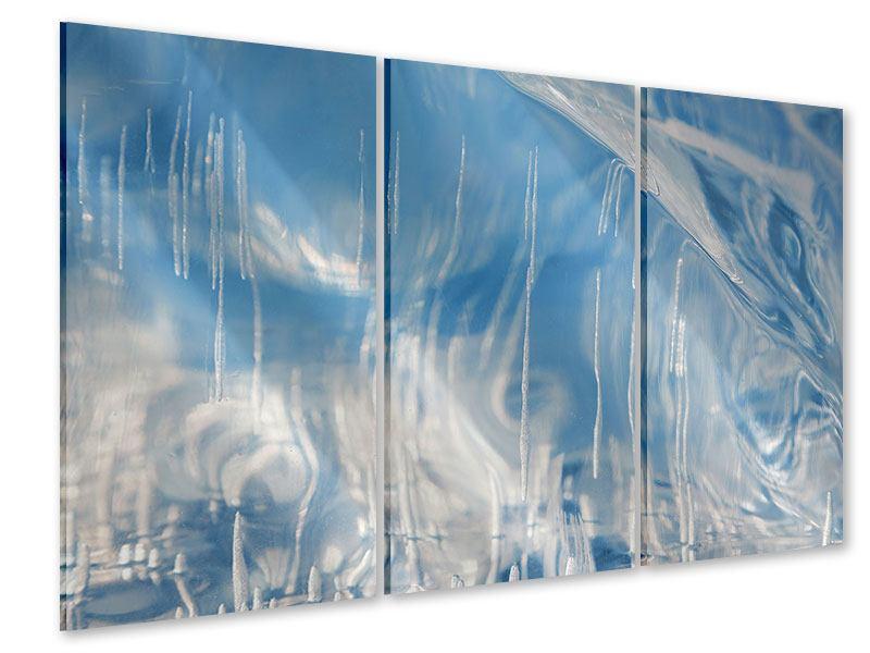 Acrylglasbild 3-teilig Das Eis des Baikalsees