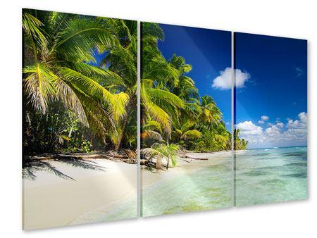Acrylglasbild 3-teilig Die einsame Insel