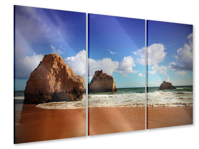 Acrylglasbild 3-teilig Strandgedanken