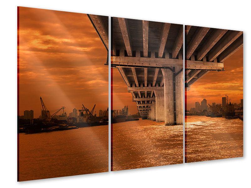 Acrylglasbild 3-teilig Die Brücke