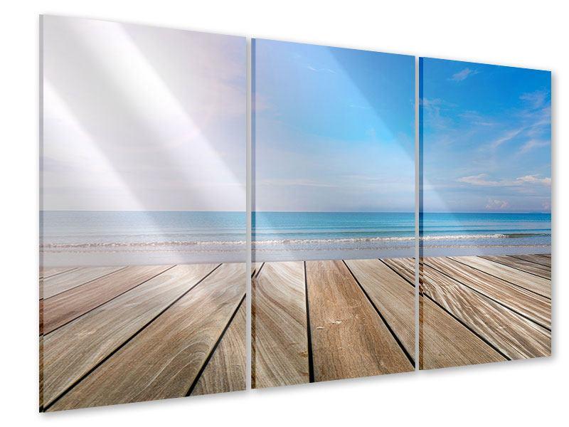 Acrylglasbild 3-teilig Das schöne Strandhaus